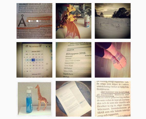Instagram skärmklipp